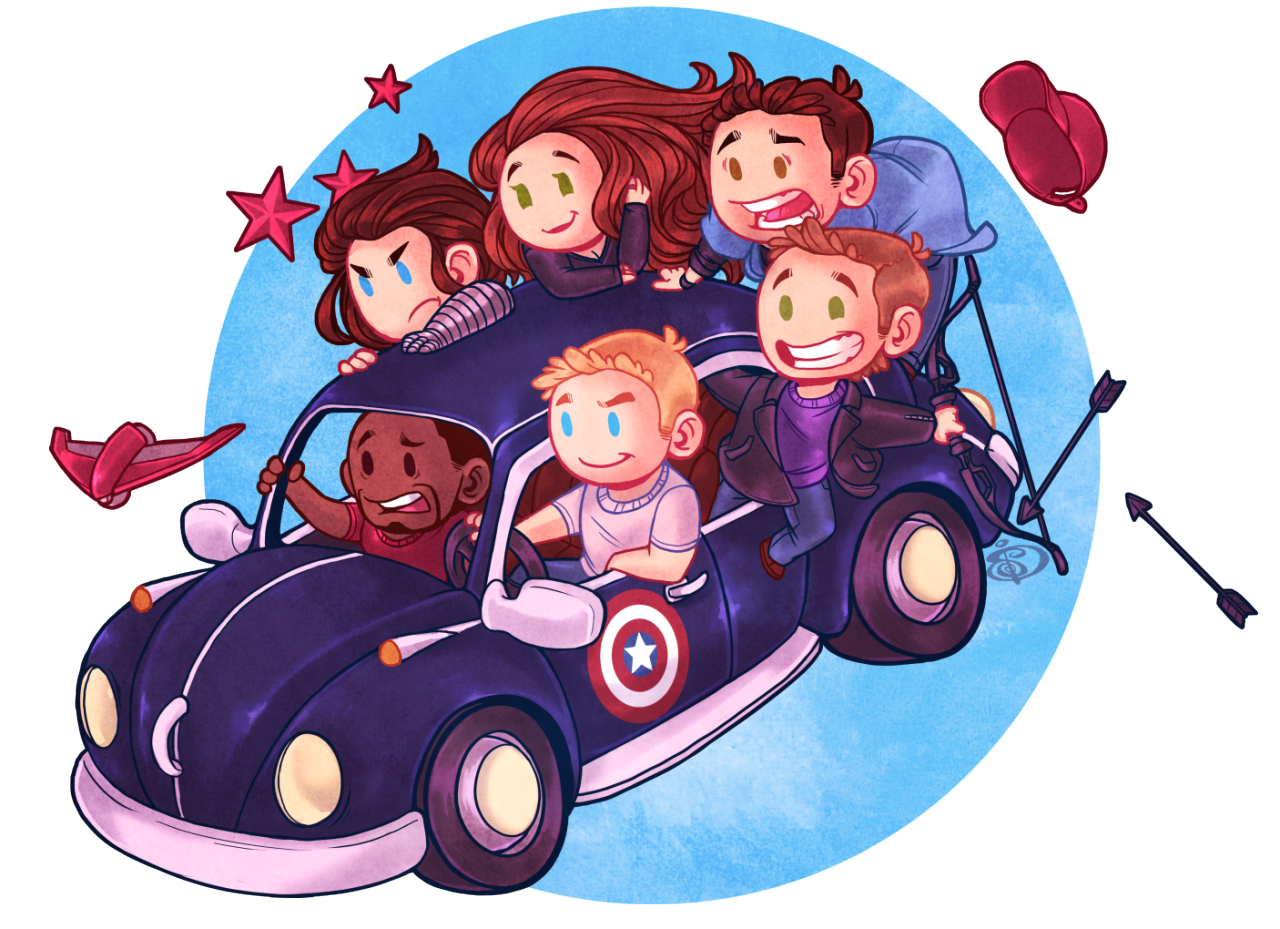 "redundantz: "" PunchBuggie One of the best parts in the whole movie! Literal clown car full of buff men. Thinking of doing Team Iron man as well but well see! Can get print and shirt Here and Here Can get high rez, video process, step by step, and..."
