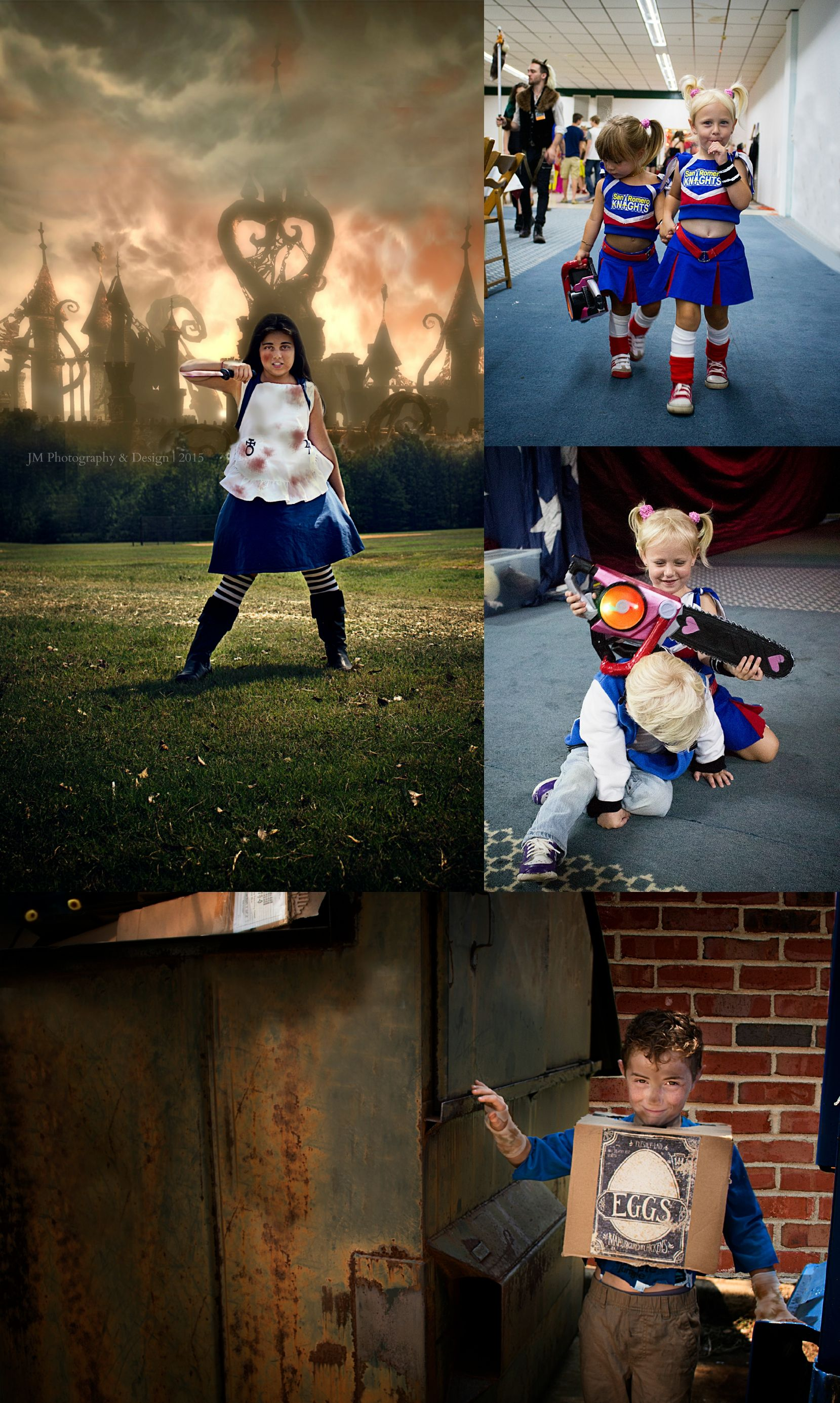 Mini cosplayers #boxtrolls #EGGS #alicemadnessreturns #lollipopchainsaw #cosplay