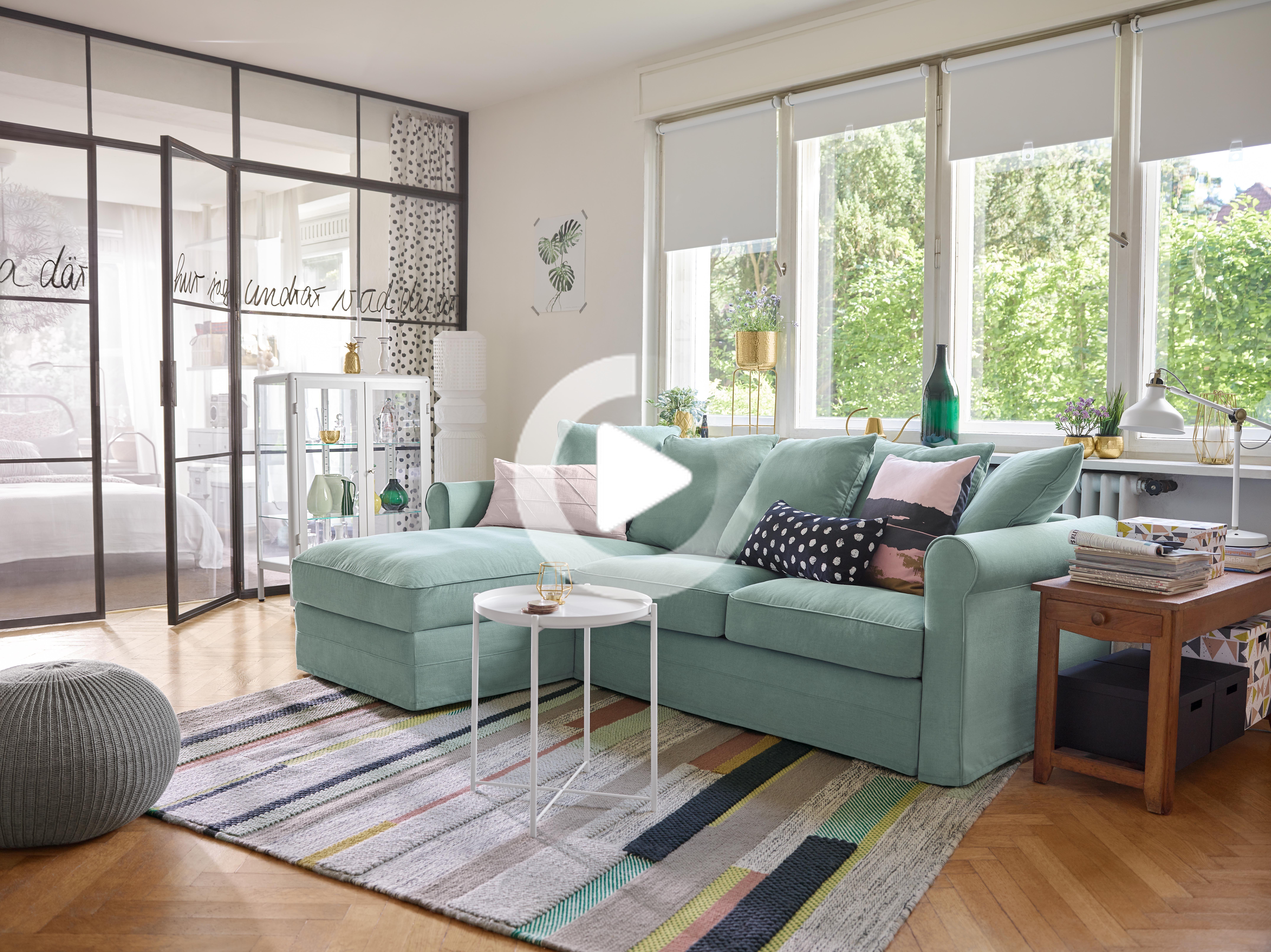 Nockeby 3er Sofa Mit Recamiere Links Tallmyra Tallmyra Verchromt Weiss Schwarz Verchromt Ikea Deutschland Ikea Living Room Ikea Nockeby Sofa Living Room Seating