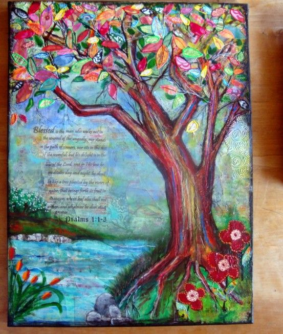 18 x 24   Psalms 1 Dimentional mixed media Tree by justatouchoftlc, Terri Chaney 18 x 24   Psalms 1 Dimentional mixed media Tree by justatouchoftlc, Terri Chaney 18 x 24   Psalms 1 Dimentional mixed media Tree by justatouchoftlc, Terri Chaney