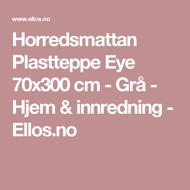 Horredsmattan Plastteppe Eye 70x300 cm - Grå - Hjem & innredning - Ellos.no