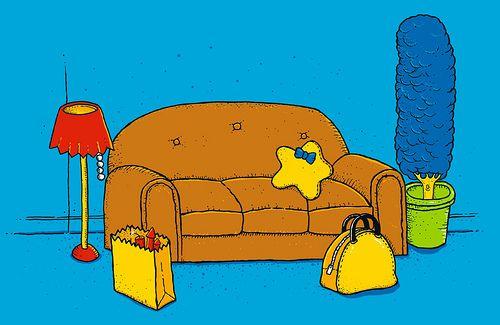 Los Simpson como naturaleza muerta