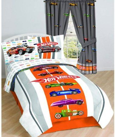 Room Ideas · Amazon.com: Hot Wheels Vintage Drapes   Muscle Car Window  Treatment Curtains: Home