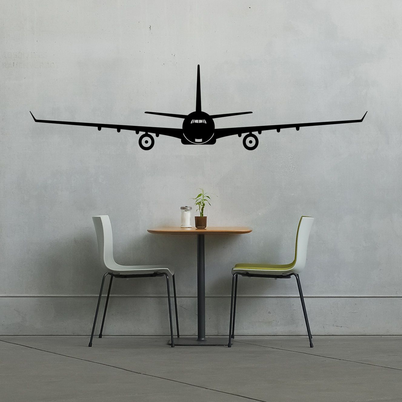 Details about Windowed Airplane Wall Vinyl Decal Sticker