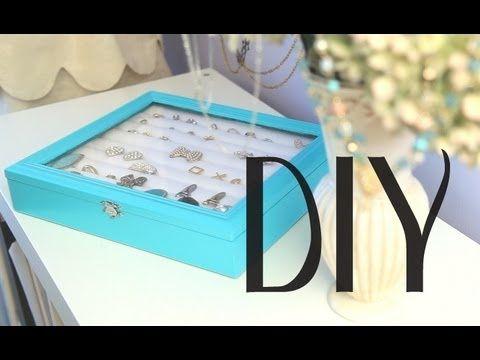 DIY Rings Earrings Jewelry Display Box Organizer Tiffany Co