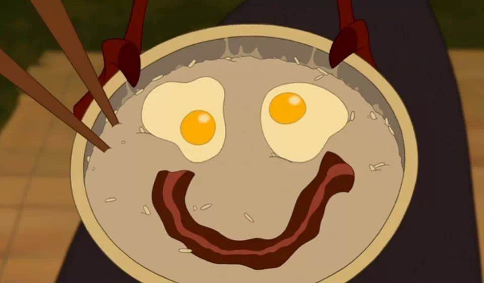 """Look! You get porridge and it's happy to see you!"" - Mushu (Mulan)"