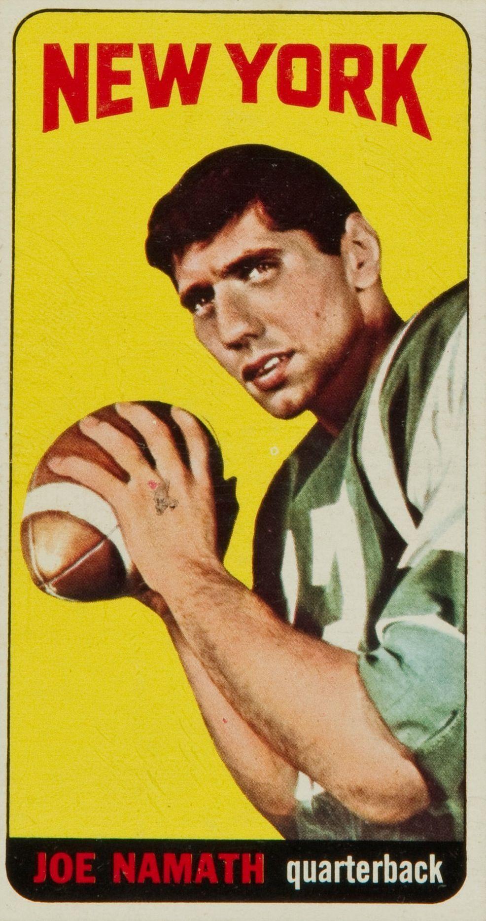1965 Topps Vintage Football Card Joe Namath • Broadway