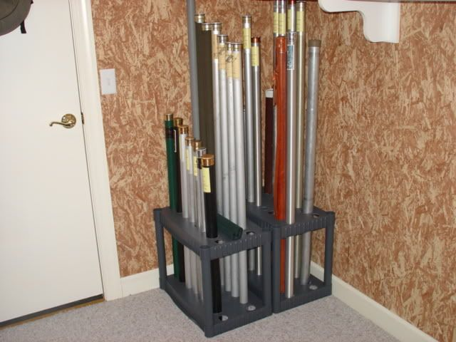 Fly Rod Tube Rack From A Plano Workshop Pinterest Fly Rods