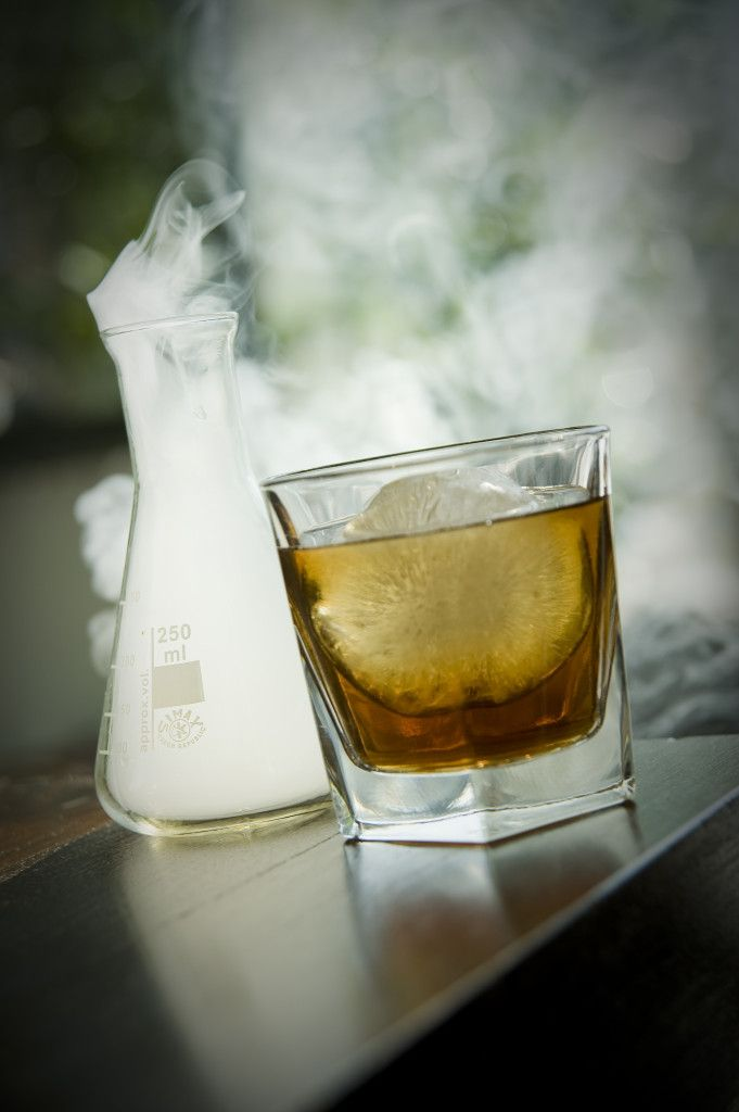 Smokey Old Fashioned Rocks And 250ml Conical With Ice Ball Prepped Smoke 45ml Woodford Reserve 20ml Maple Syrup Alchemist Cocktails Cocktails Alchemist
