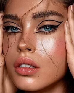 Photo of Maquillage yeux bleus – L'eyeliner graphique – Lucette