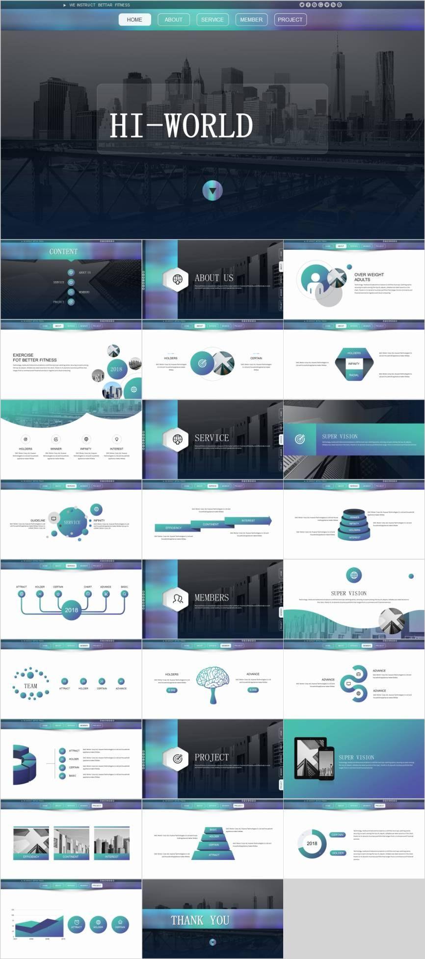27 simple website business design powerpoint template pcslide com