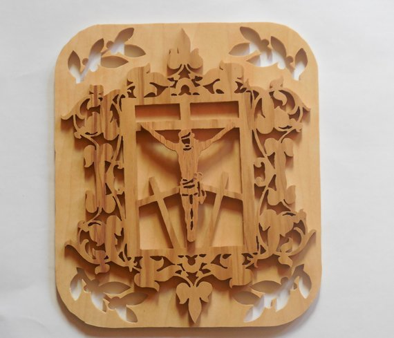 Jesus Wall Hanging Products Wall Wood Carving Decor