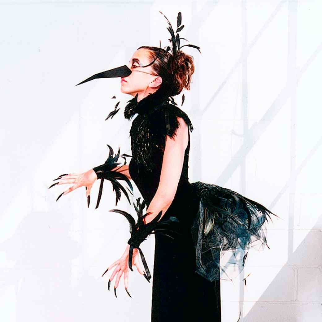 No-Sew Costume: Raven Bird Costume | Raven bird, Bird costume and ...