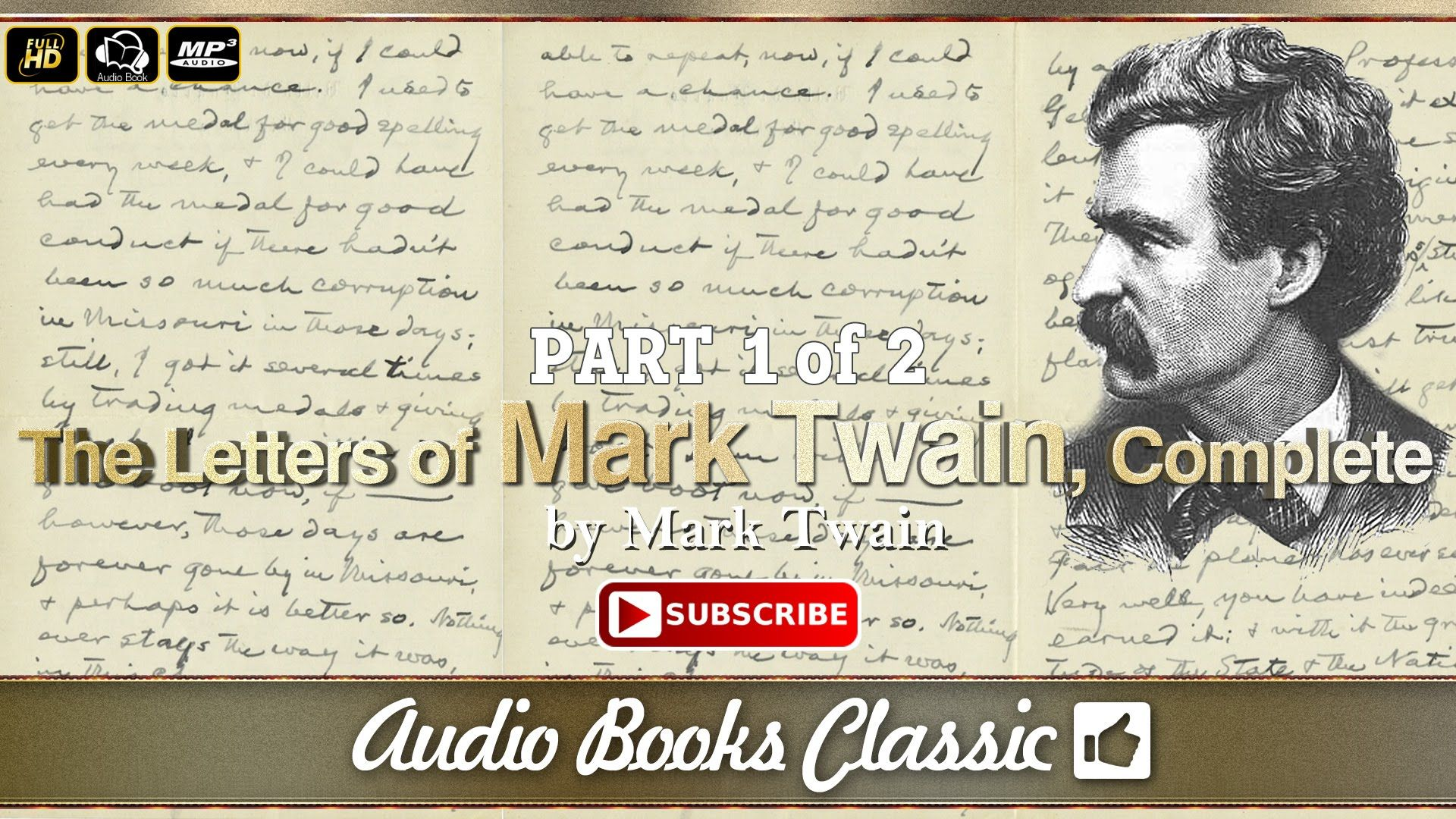 Audiobook: The Letters of Mark Twain, Complete Part 1 | Full Version | A...
