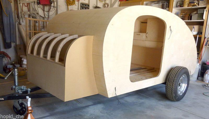Teardrop Pod Caravan Tear Drop Plans Camper Trailer RV Pop Up How To Build PLANS