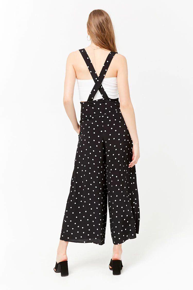 e03da8913817 Polka Dot Suspender Jumpsuit