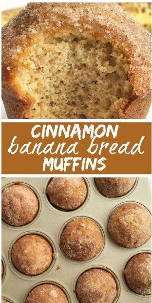 Cinnamon Banana Bread Muffins #sweetrecipes