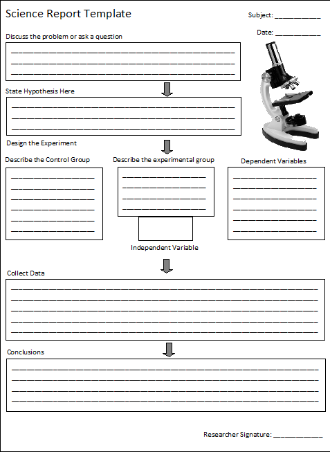 Book Report Template  Science Report Template  Free Report