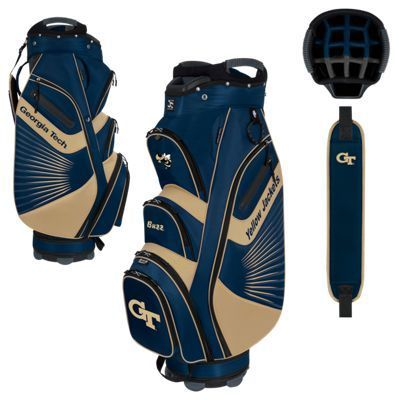 Team Effort The Bucket II NCAA Cooler Golf Cart Bag - Georgia Tech on