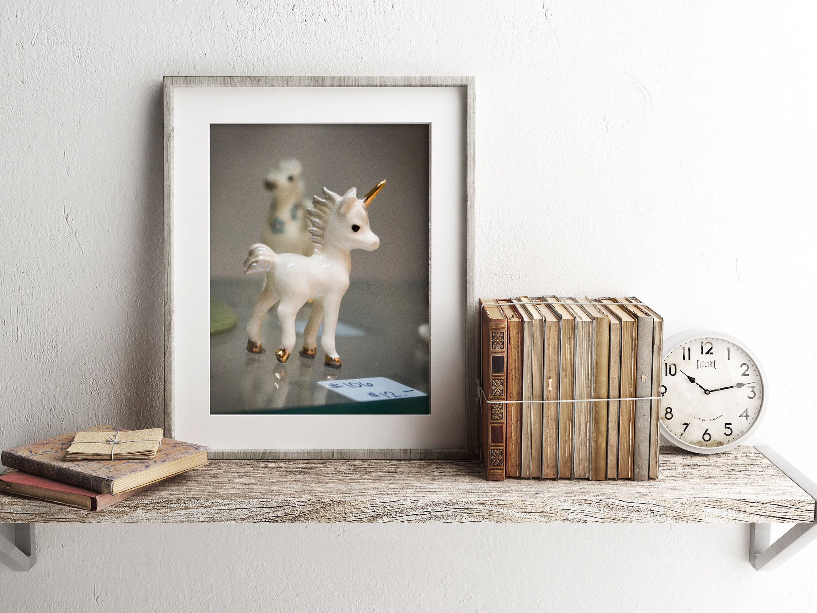 Sweet Little Unicorn Figure Fine Art Photograph Print In My