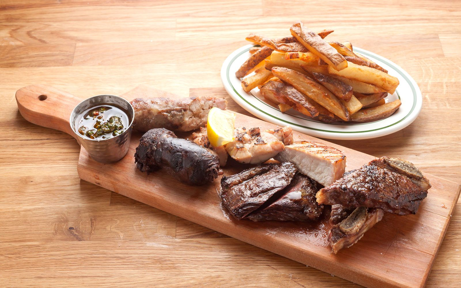 Selection of meats Latin cuisine, Restaurant new york