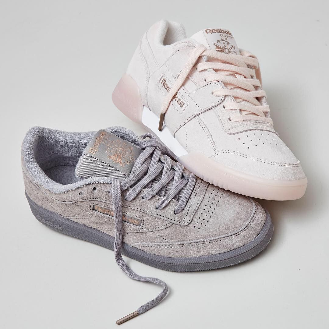 d84adfb84b0 Whats your favourite-The Club C 85 Trainers in Skull Grey Rose Gold  Exclusive and Reebok Workout Plus Trainers Pale Pink in Rose Gold Exclusive