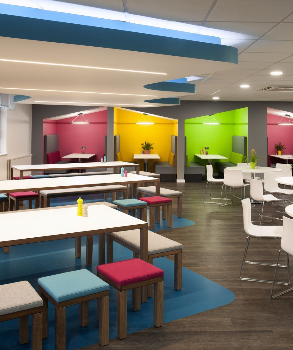 UK Office Design Inspiration >> Colourful Breakout Space