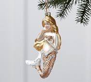 Mercury Glass Gold Mermaid Ornament Mermaid Ornament