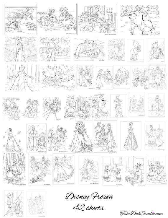 Disney Frozen New 42 Coloring Pages Birthday Party Games Pdf 12