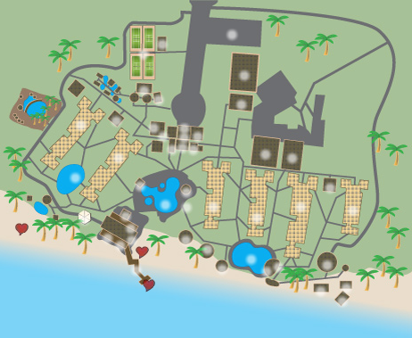 Dreams La Romana Resort Map on
