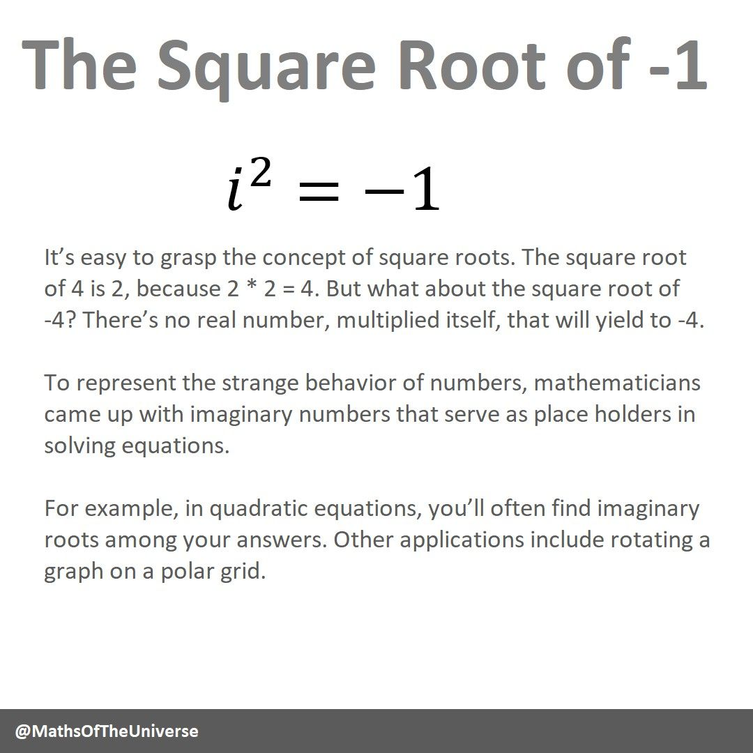 The Square Root Of 1 With Images