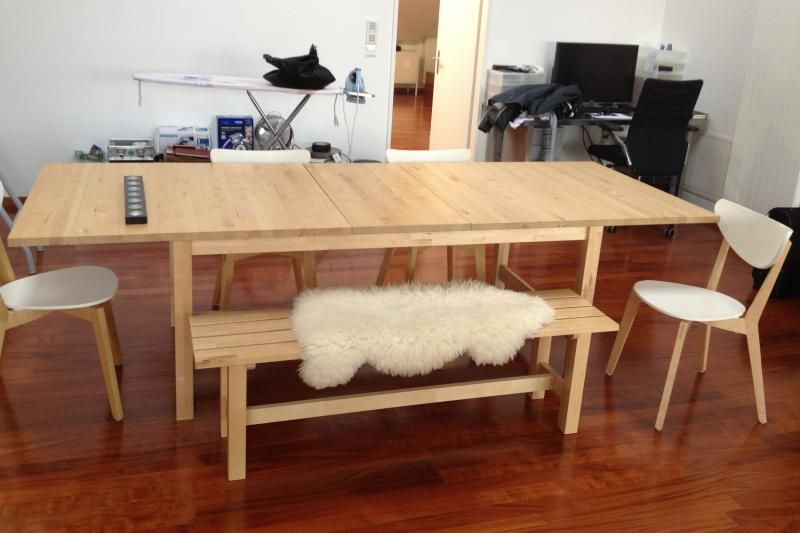 Ikea table with norden bench google search ikea for Table norden ikea