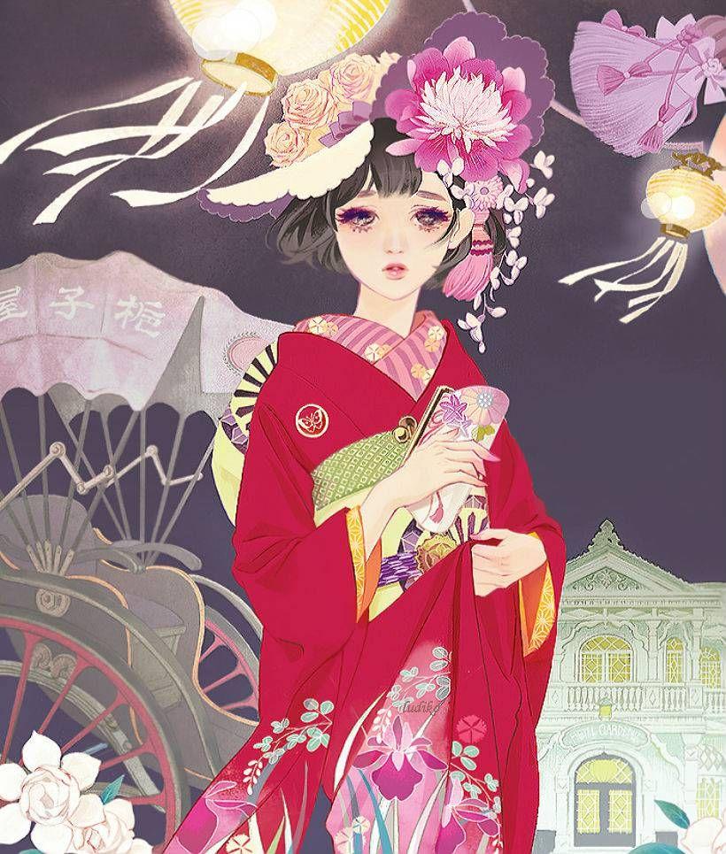 Япония арт картинки