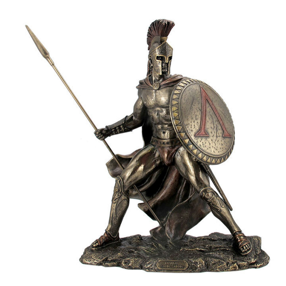 "11.5/"" ACHILLES W// SPEAR /& SHIELD GREEK MYTHOLOGY Sculpture Statue Bronze Finish"