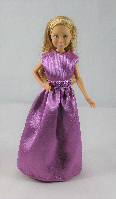 Barbie stacie vintage skipper purple party dress by