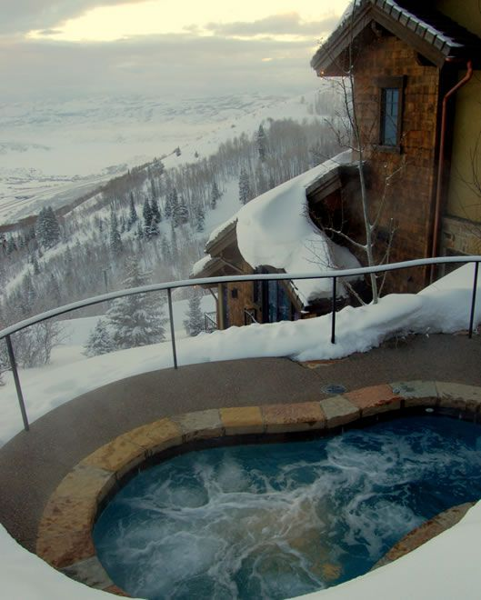 Casa Nova Park City Utah Hot Tub Outdoor Vacation Hot Tub