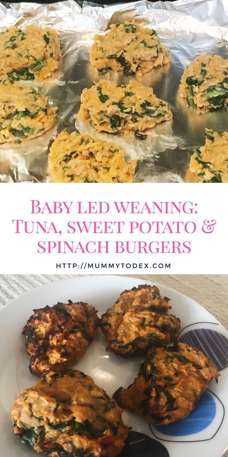 Baby Led Weaning: Tuna, Sweet Potato and Spinach Burgers ...