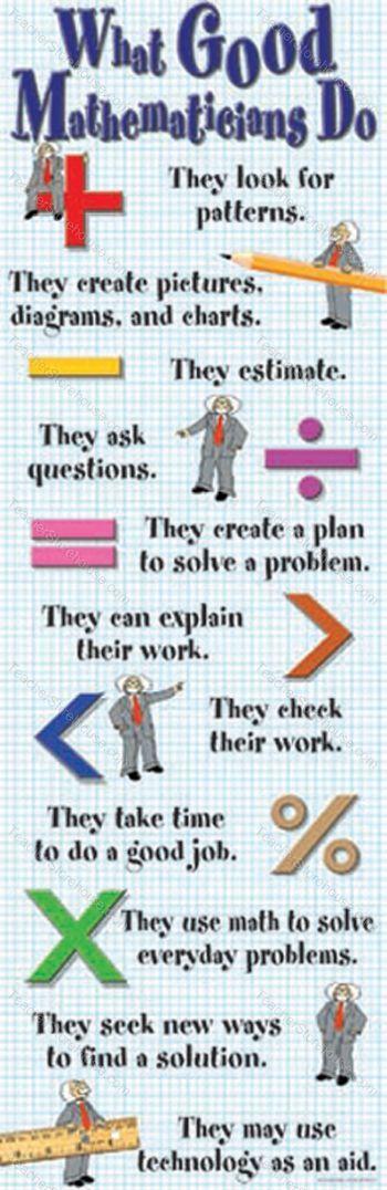 What Good Mathematicians Do Colossal Poster | Pinterest | Math ...