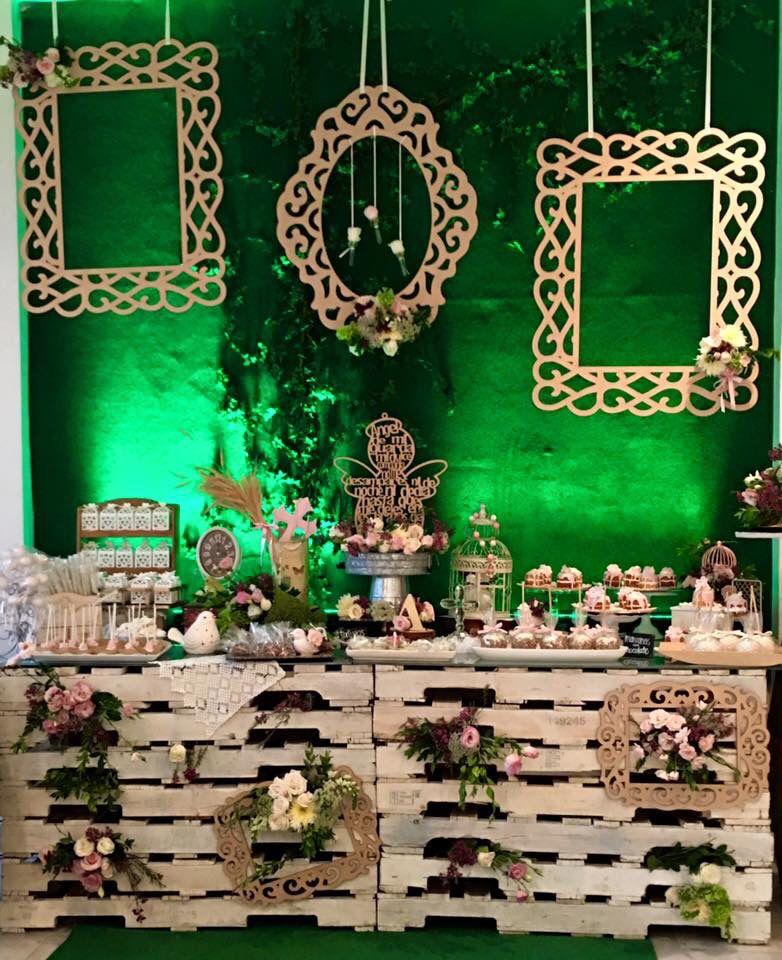 Mesa postres bautizo y primera comuni n ni a bautizo y o for Mesa de dulces para bautizo de nina