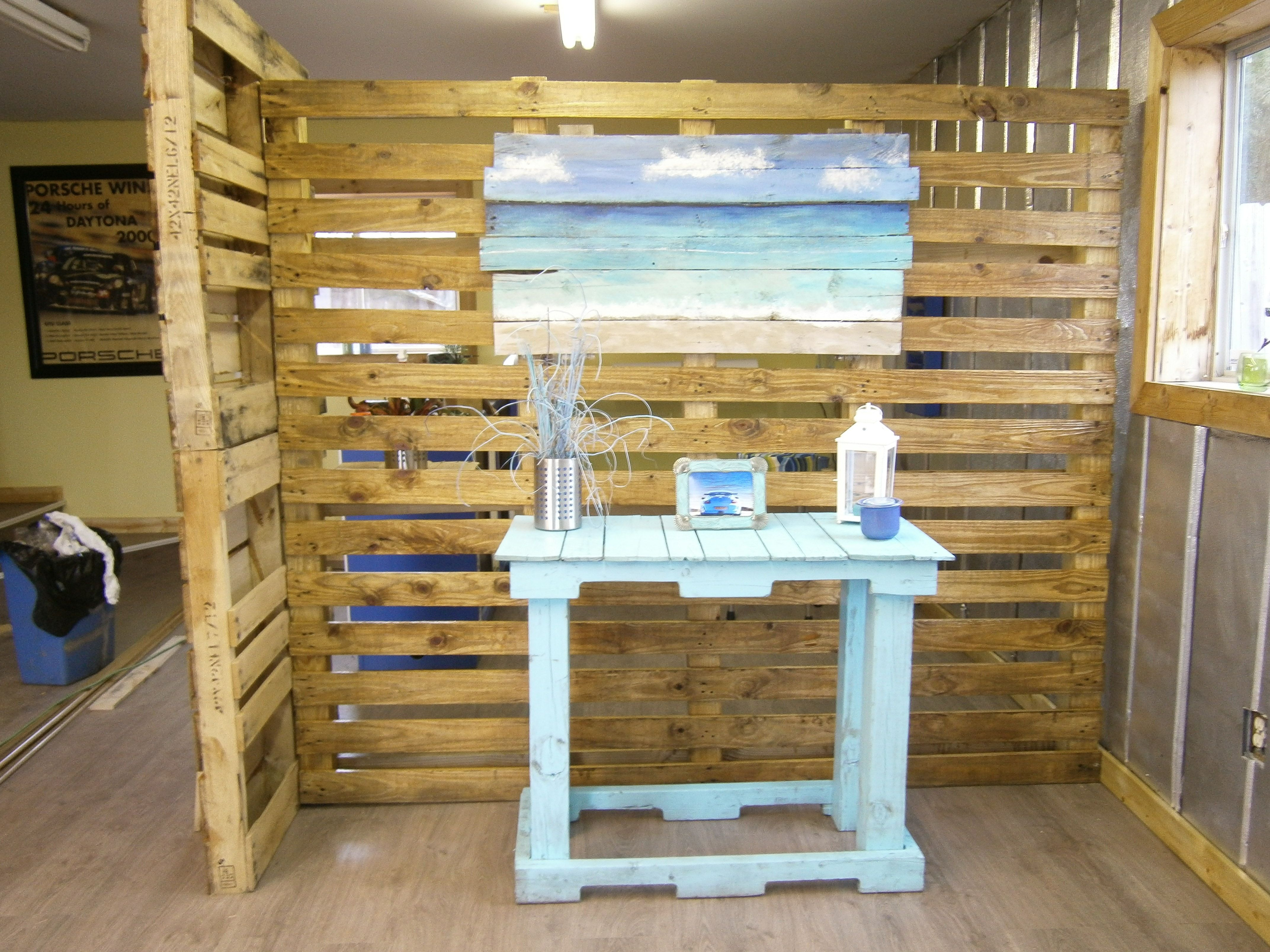 Pallet wall room divider trade show pinterest divider