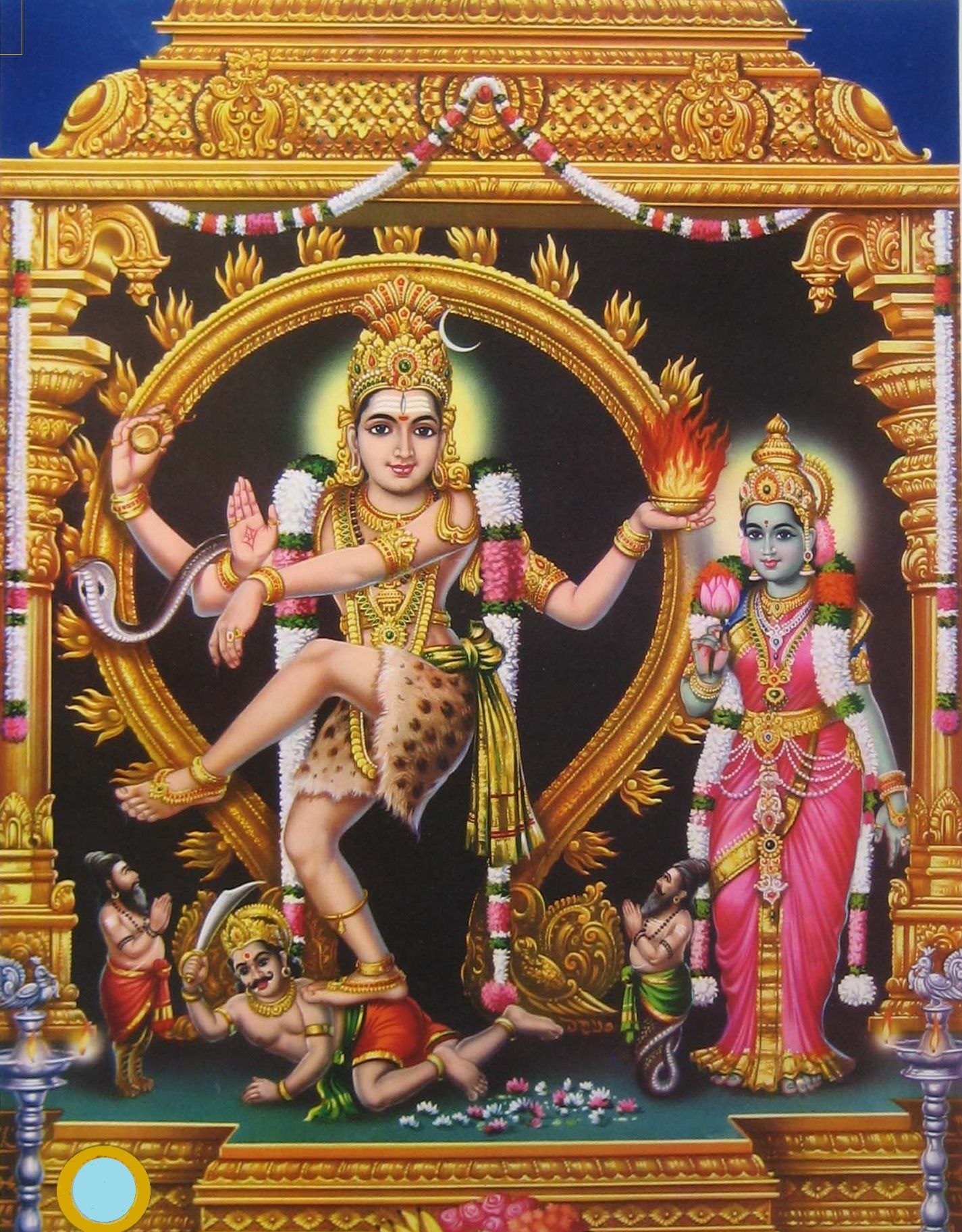 Thillai Nataraja Temple is situated in Chidambaram. A unique feature is the  bejewelled image of Nataraja. It depicts Lord Shiva as the l… | Hindu gods,  Shiva, Hindu