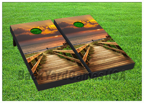 Vinyl Wraps Cornhole Boards Decals Beach Ocean Fishing