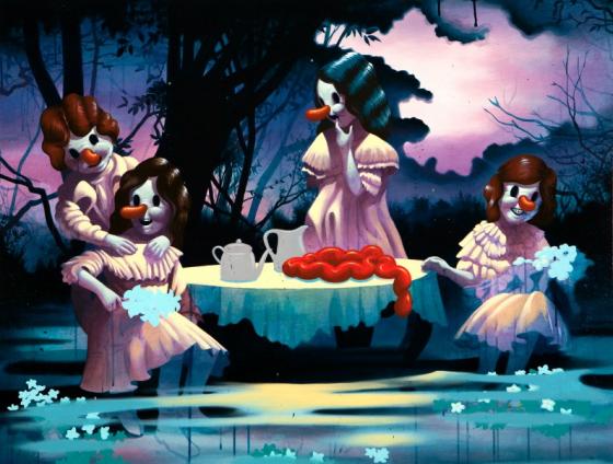 Bambini Dipinti ~ Victor castillo bambini dalle orbite vuote in dipinti socio