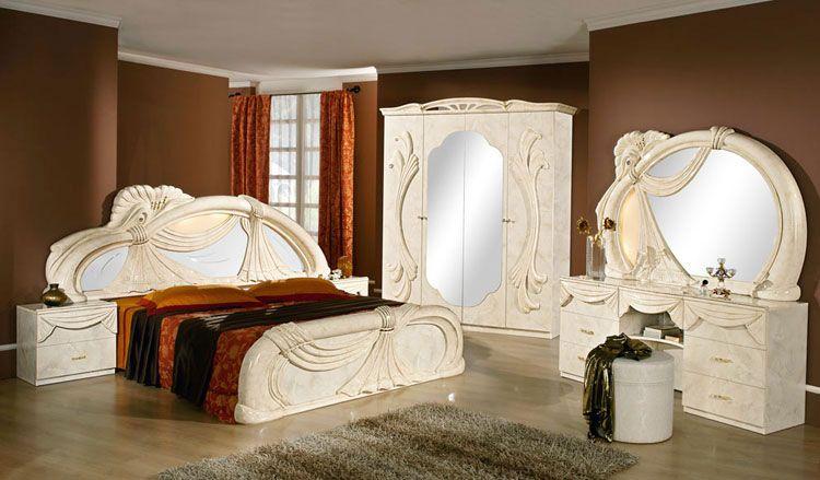 Schlafzimmer Italien ~ Italienische schlafzimmer in hochglanz weiss ideen rund ums