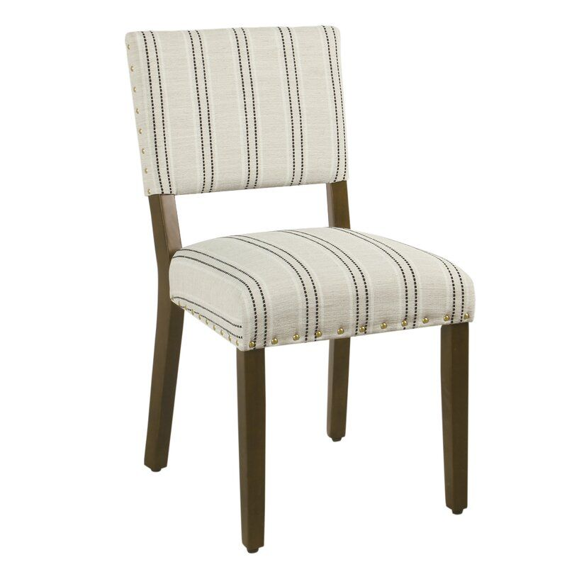 Camilo Stripe Upholstered Dining Chair In 2020 Striped Dining