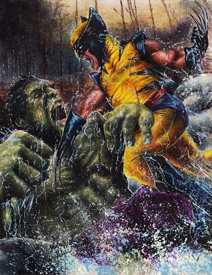 #Hulk #Fan #Art. (Hulk VS Wolverine) By:Twynsunz. (THE * 3 * STÅR * ÅWARD OF: AW YEAH, IT'S MAJOR ÅWESOMENESS!!!™)[THANK Ü 4 PINNING!!!<·><]<©>ÅÅÅ+(OB4E)