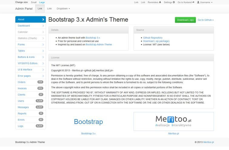 20 free bootstrap admin dashboard templates dashboard template 20 free bootstrap admin dashboard templates malvernweather Choice Image