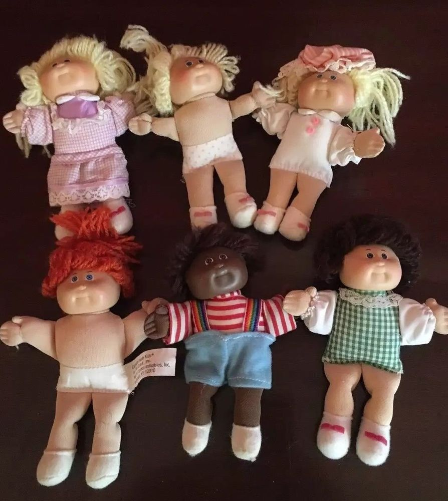 Vintage Collectible Plush Mini Cabbage Patch Dolls 1984 Lot Of 6 Nice Condition Cabbage Patch Dolls Collectable Plush Dolls