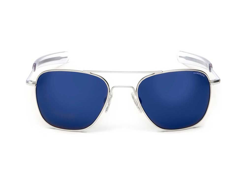 f3205a2ec3 Randolph Engineering Aviator Matte Chrome Sunglasses - Blue Sky PC Bayonet  55mm