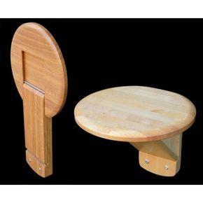 Folding Wall Seat, S40 in birch or oak. Swedish handicraft ...